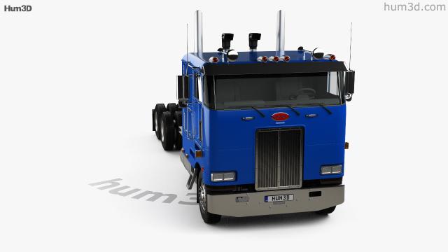 360 view of Peterbilt 362 Tractor Truck 2002 3D model
