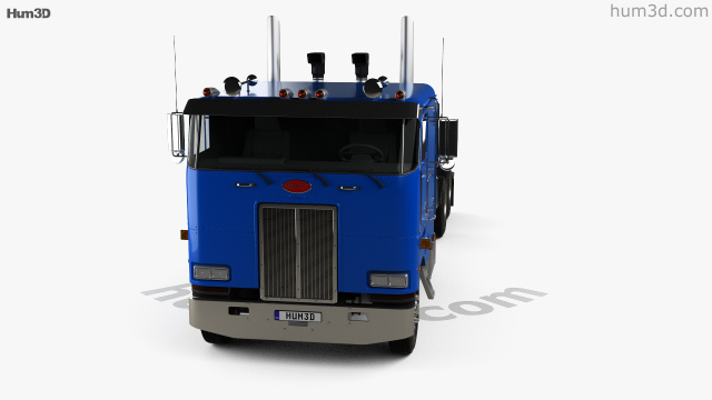 360 view of Peterbilt 362 Tractor Truck 2002 3D model