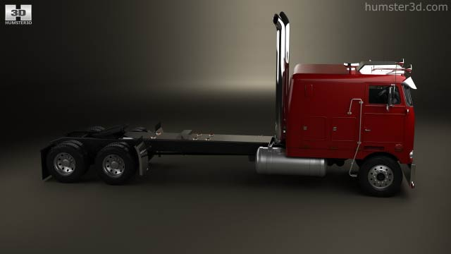 Peterbilt 352 Tractor Truck 1969 3D model - Vehicles on Hum3D