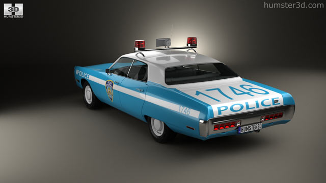 Plymouth Fury Police 1972 3d Model Vehicles On Hum3d
