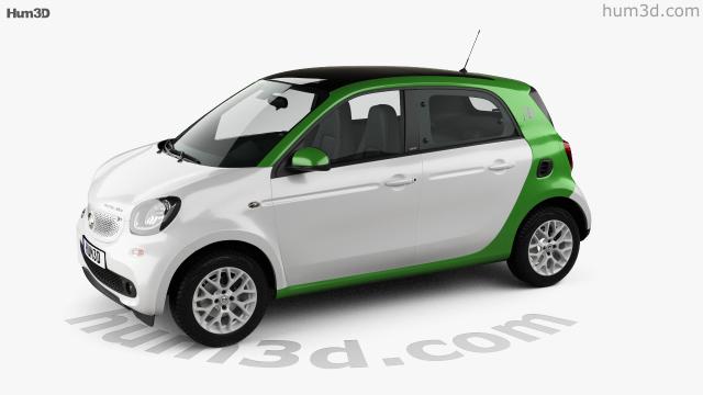 Smart Forfour Electric Drive 2017 3d Model Vehicles On Hum3d