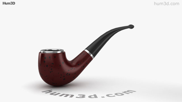 360 view of Smoking Pipe 3D model - Hum3D store
