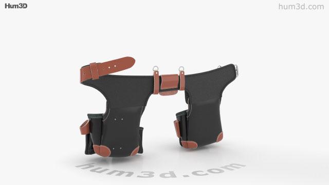 Occidental Leather B9588 Belt 3D model - Clothes on Hum3D