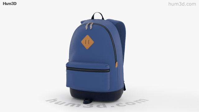 360 view of Backpack 3D model - Hum3D store