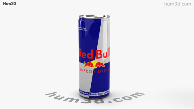Red bull can 3d model hum3d malvernweather Image collections