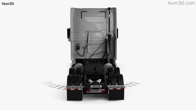 Volvo VNL (670) Tractor Truck 2000 3D model - Vehicles on Hum3D