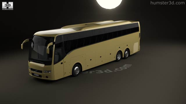 360 view of Volvo 9900 Bus 2007 3D model - Hum3D store