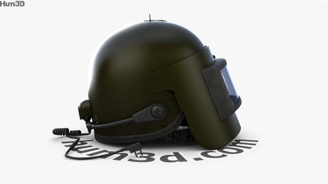 360 view of Altyn Helmet 3D model - Hum3D store