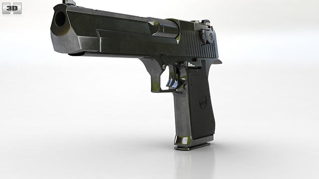 IMI Desert Eagle 3D model - Weapon on Hum3D